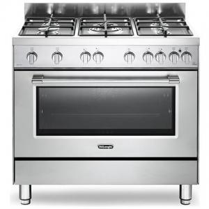 Cucina Elettrica 5 Fuochi a Gas Forno Elettrico Ventilato DEMX 96 5 Fuochi