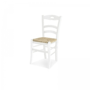 Sedia in arte povera modello Savoy con seduta in paglia vera 1022