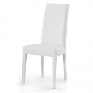 Sedia in ecopelle bianca 577
