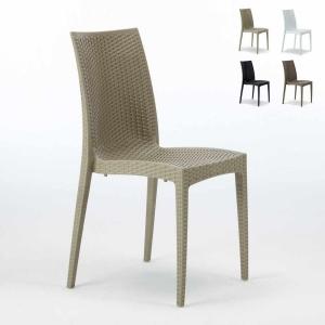 Sedie da Esterno Bistrot perfette per arredare gli esterni di giardini, bar. sedia esterno senza braccioli