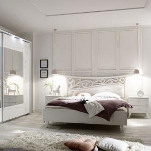 Camera completa Soler bianca con serigrafia floreale Soler bianca con serigrafia floreale